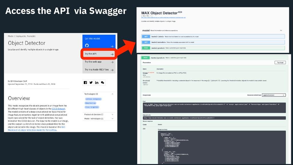 Access the API via Swagger