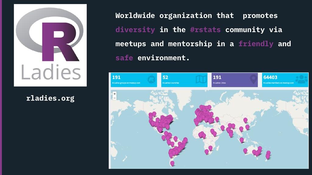 Worldwide organization that promotes diversity ...