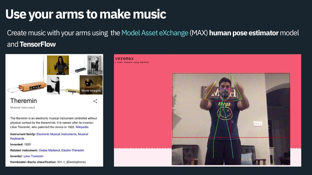 Use your arms to make music Create music with y...