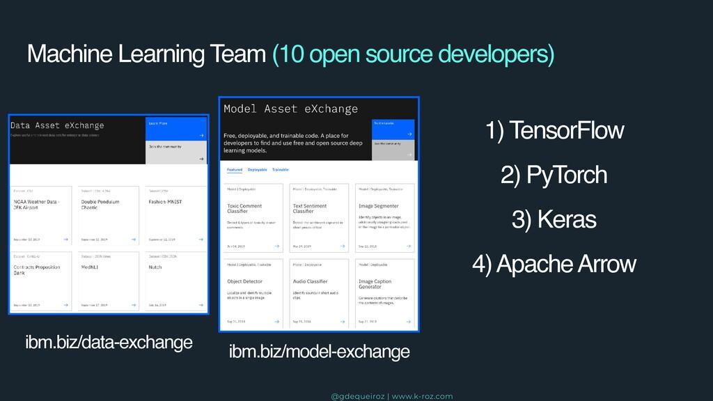 Machine Learning Team (10 open source developer...