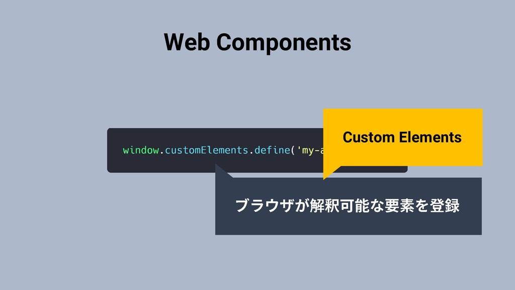 Web Components Custom Elements