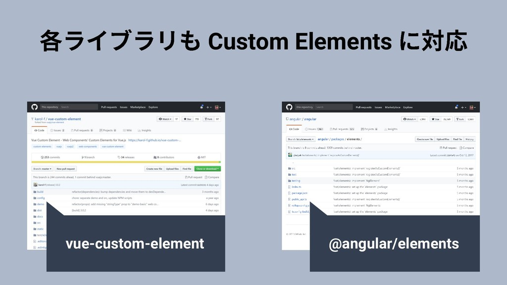 Custom Elements vue-custom-element @angular/ele...