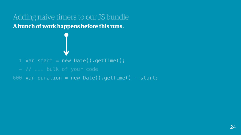 var start = new Date().getTime(); // ... bulk o...