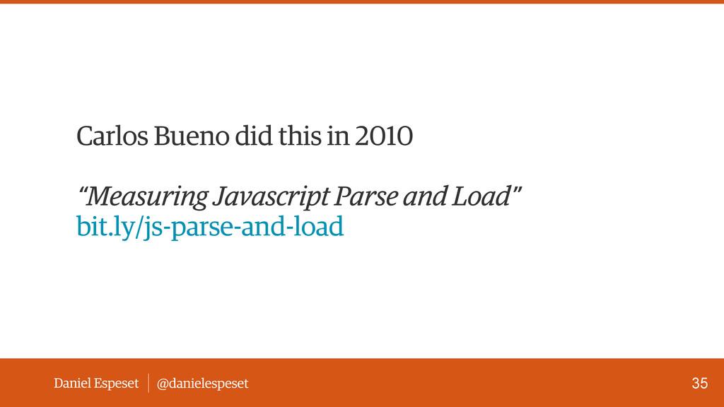 Daniel Espeset @danielespeset Carlos Bueno did ...
