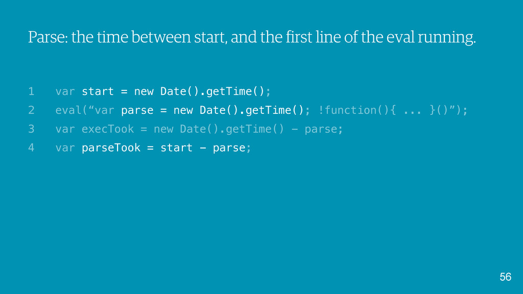 Parse: the time between start, and the first li...