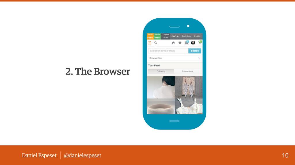 Daniel Espeset @danielespeset 10 2. The Browser