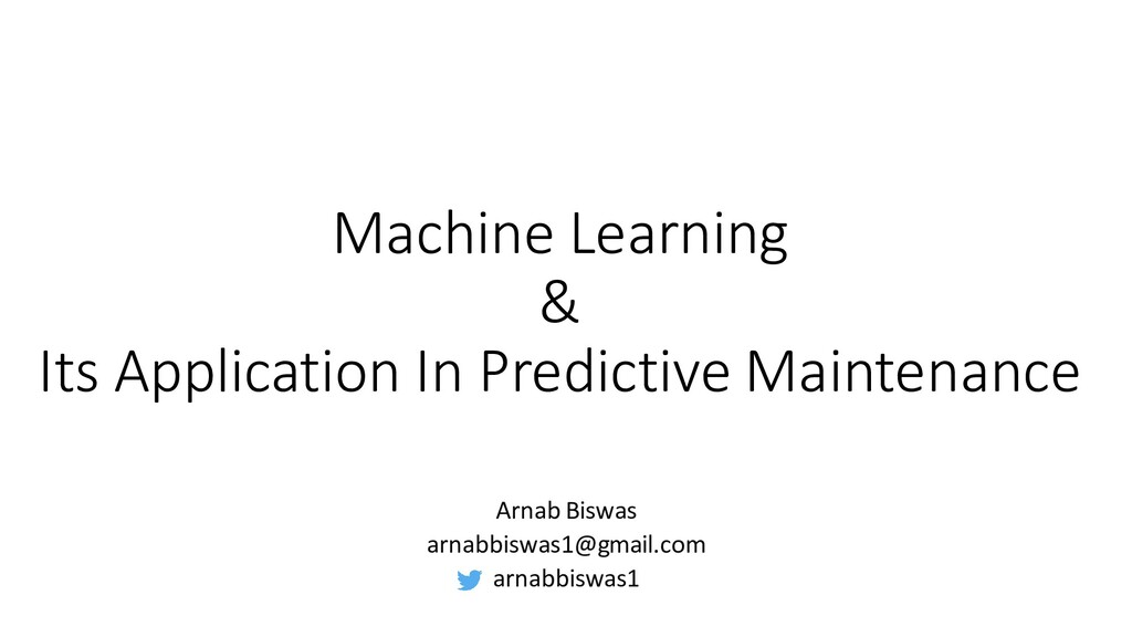 Machine Learning & Its Application In Predictiv...