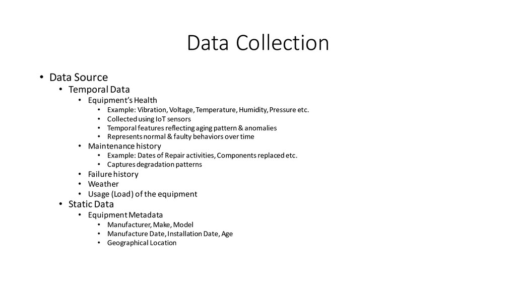 Data Collection • Data Source • Temporal Data •...