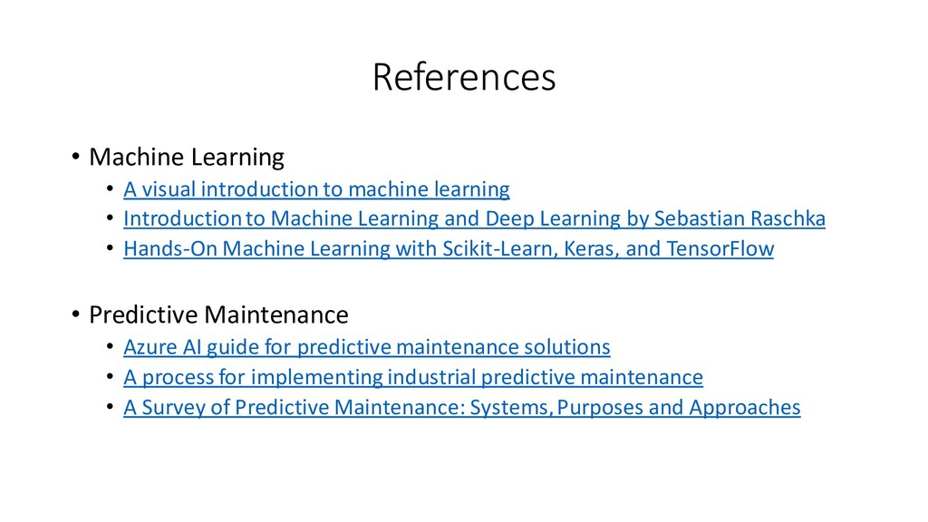 References • Machine Learning • A visual introd...