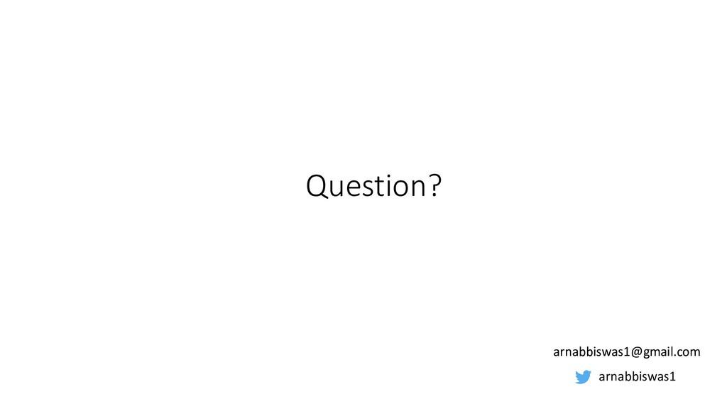 Question? arnabbiswas1 arnabbiswas1@gmail.com