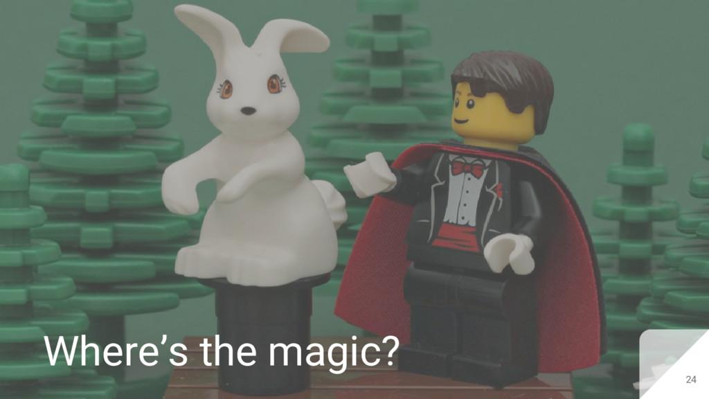 24 Where's the magic?