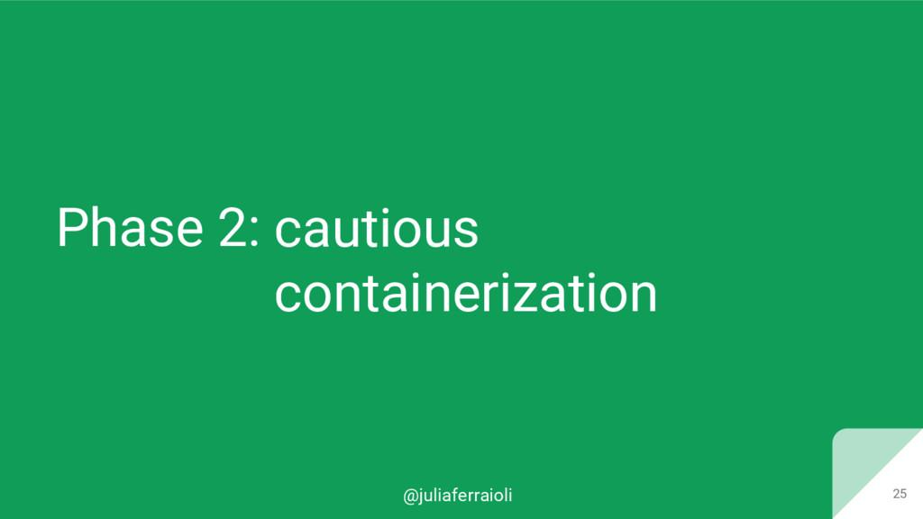@juliaferraioli Phase 2: 25 cautious containeri...