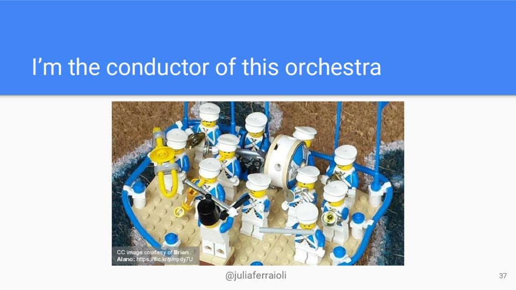 @juliaferraioli I'm the conductor of this orche...