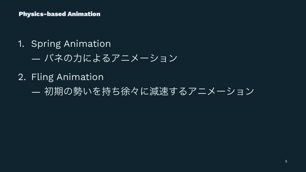 Physics-based Animation 1. Spring Animation — ό...