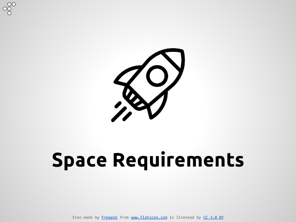 Space Requirements Icon made by Freepik from ww...