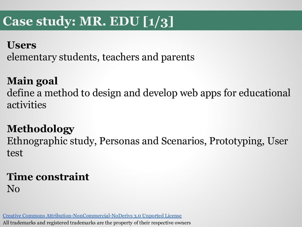 Case study: MR. EDU [1/3] Users elementary stud...