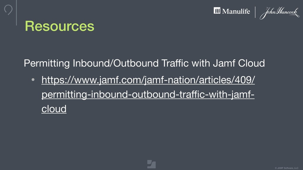 © JAMF Software, LLC Resources Permitting Inbou...