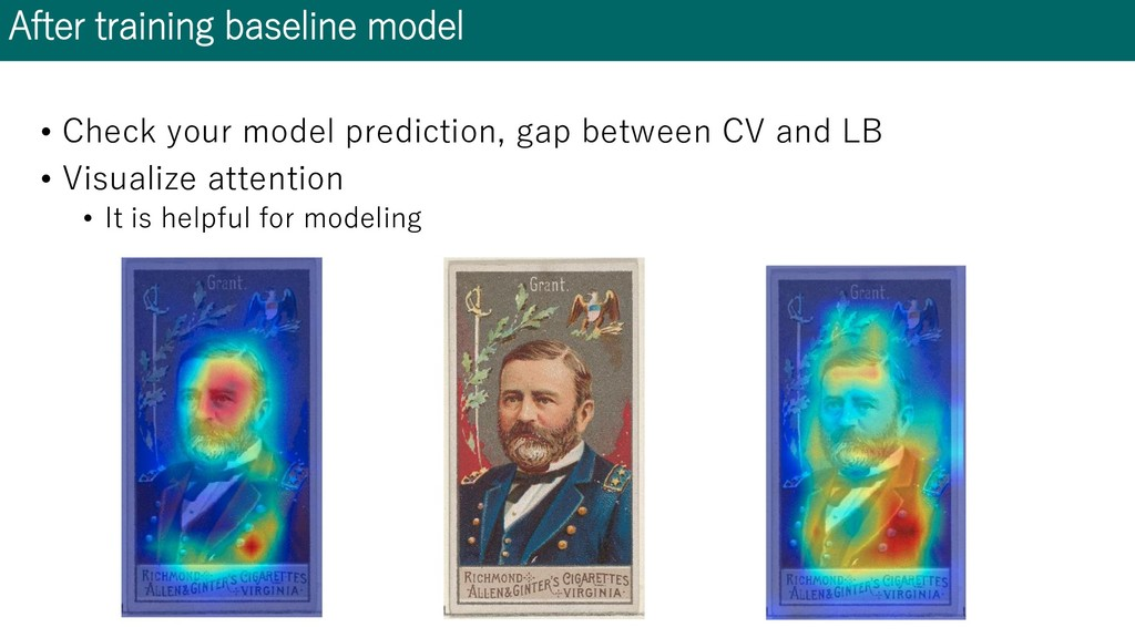 After training baseline model • Check your mode...