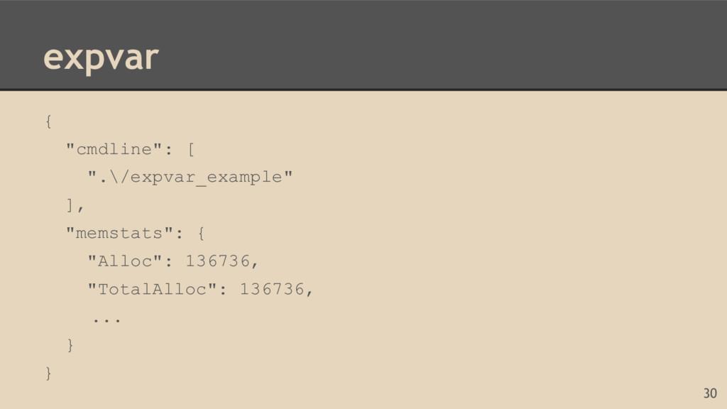 "expvar { ""cmdline"": [ "".\/expvar_example"" ], ""m..."