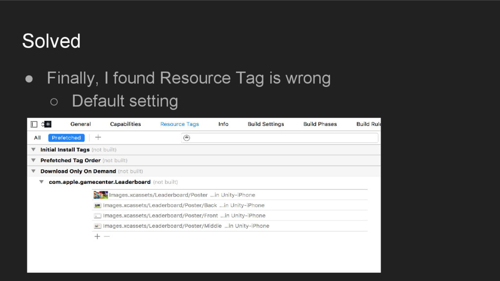 Solved ● Finally, I found Resource Tag is wrong...