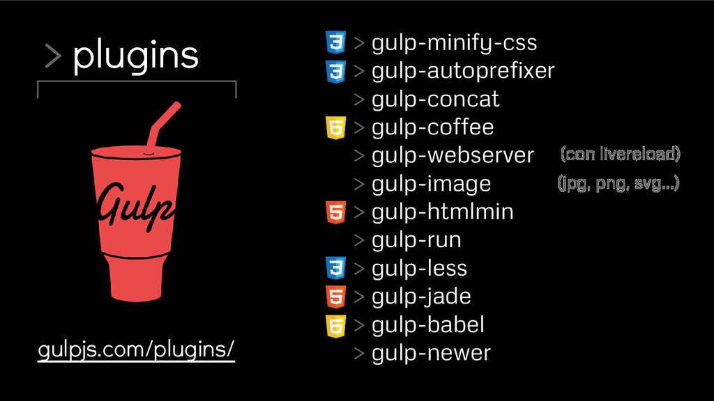> plugins gulpjs.com/plugins/ > gulp-minify-css...