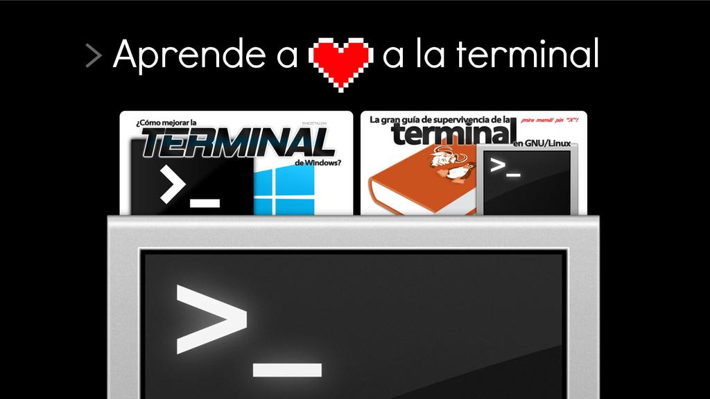 > Aprende a a la terminal