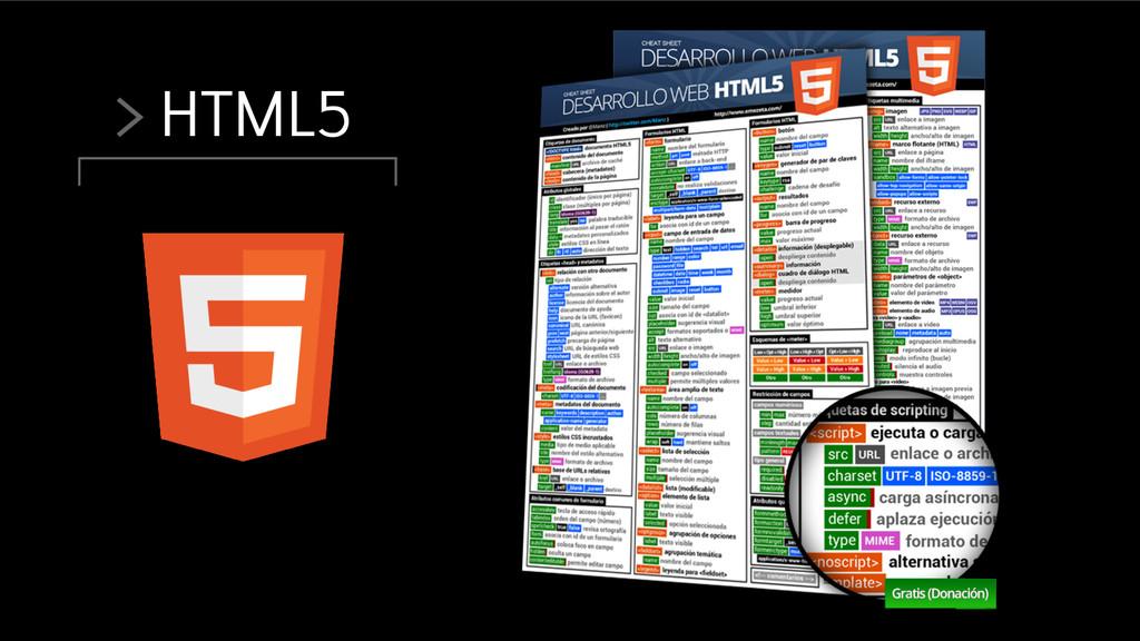 > HTML5
