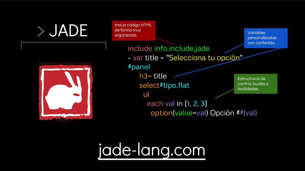 > JADE include info.include.jade - var title = ...