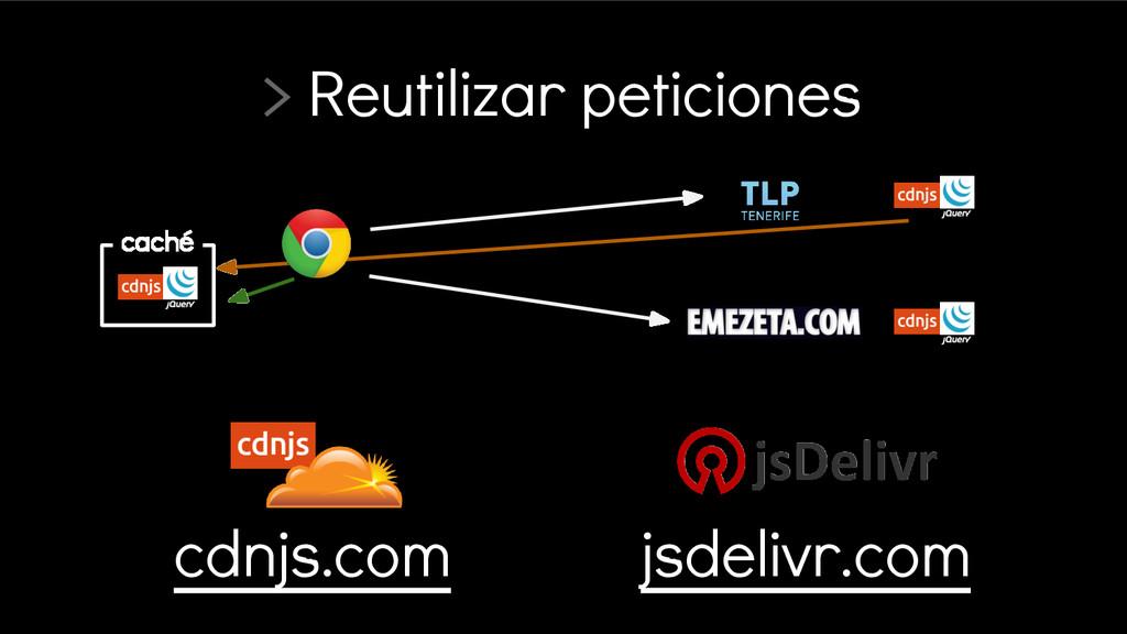 > Reutilizar peticiones cdnjs.com jsdelivr.com ...