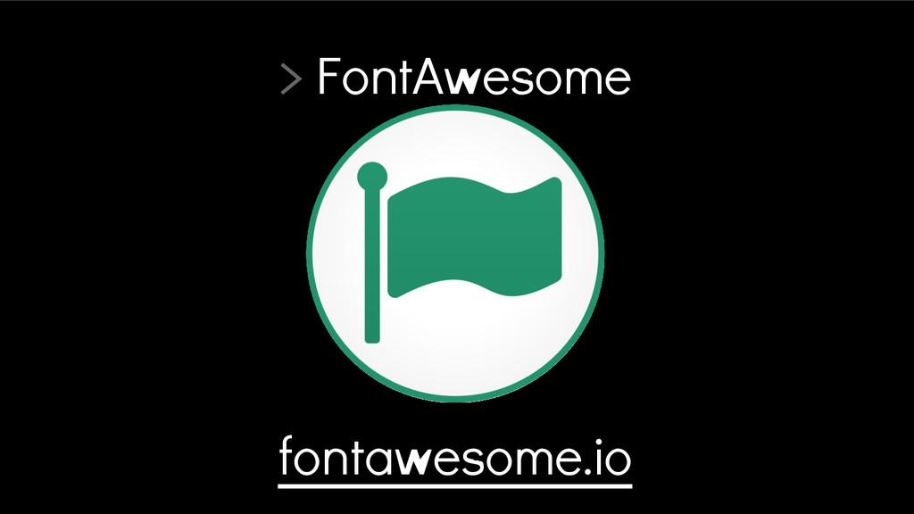 > FontAwesome fontawesome.io