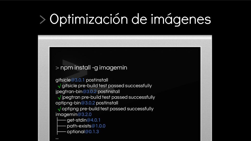 > npm install -g imagemin gifsicle@3.0.1 postin...