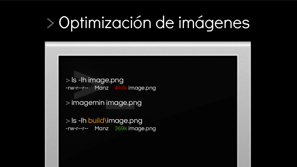 > ls -lh image.png -rw-r--r-- Manz 447k image.p...