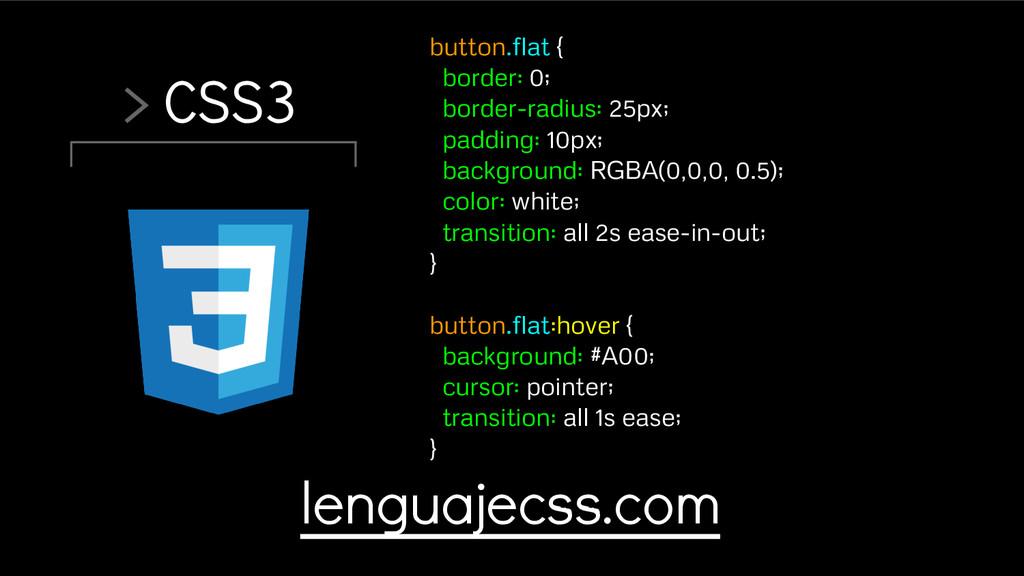 > CSS3 button.flat { border: 0; border-radius: ...