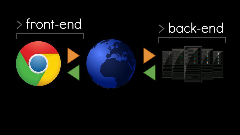 > back-end > front-end