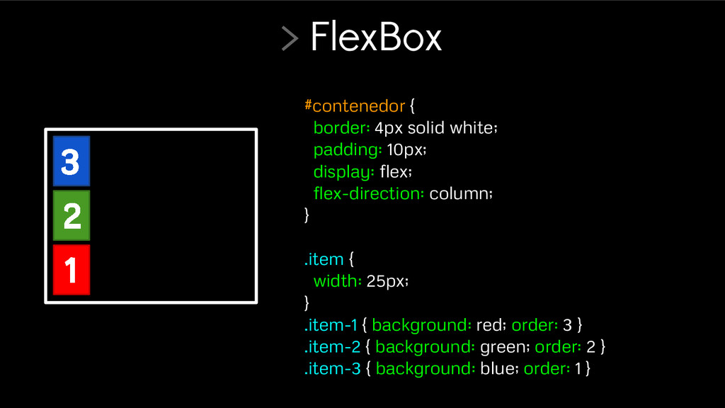 #contenedor { border: 4px solid white; padding:...