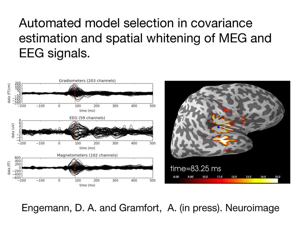 Automated model selection in covariance estimat...