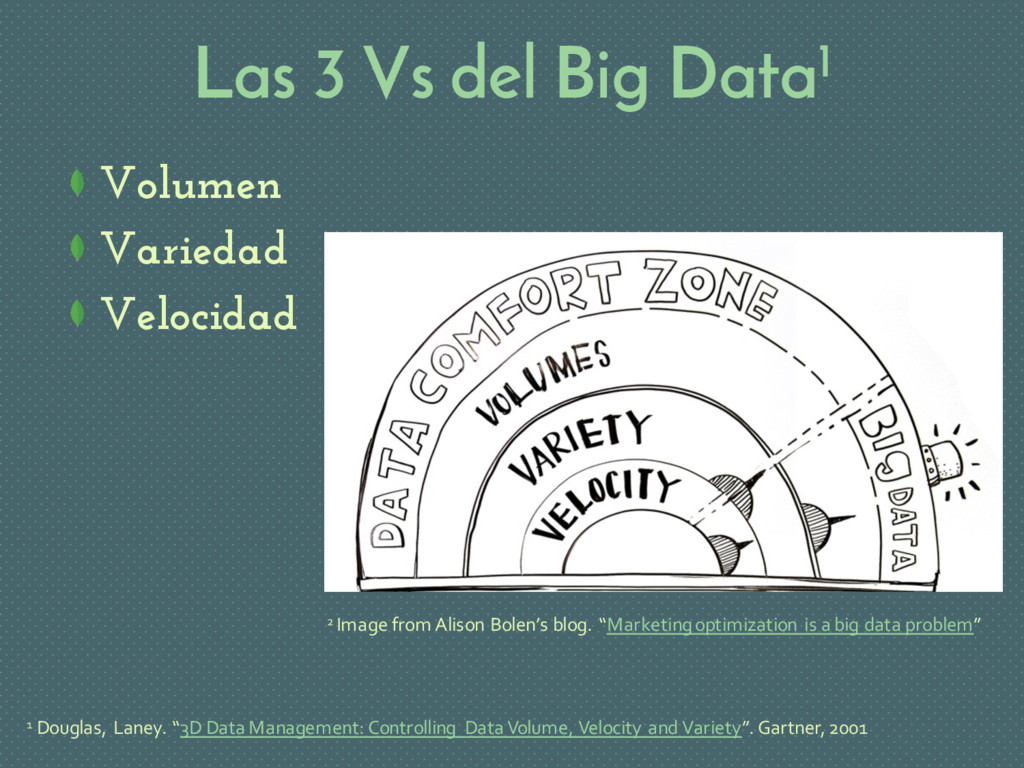 Las 3 Vs del Big Data1 Volumen Variedad Velocid...