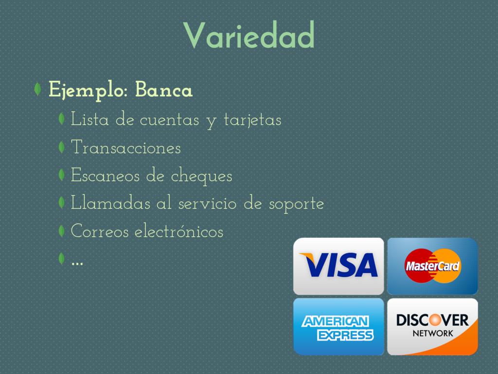 Variedad Ejemplo: Banca Lista de cuentas y tarj...