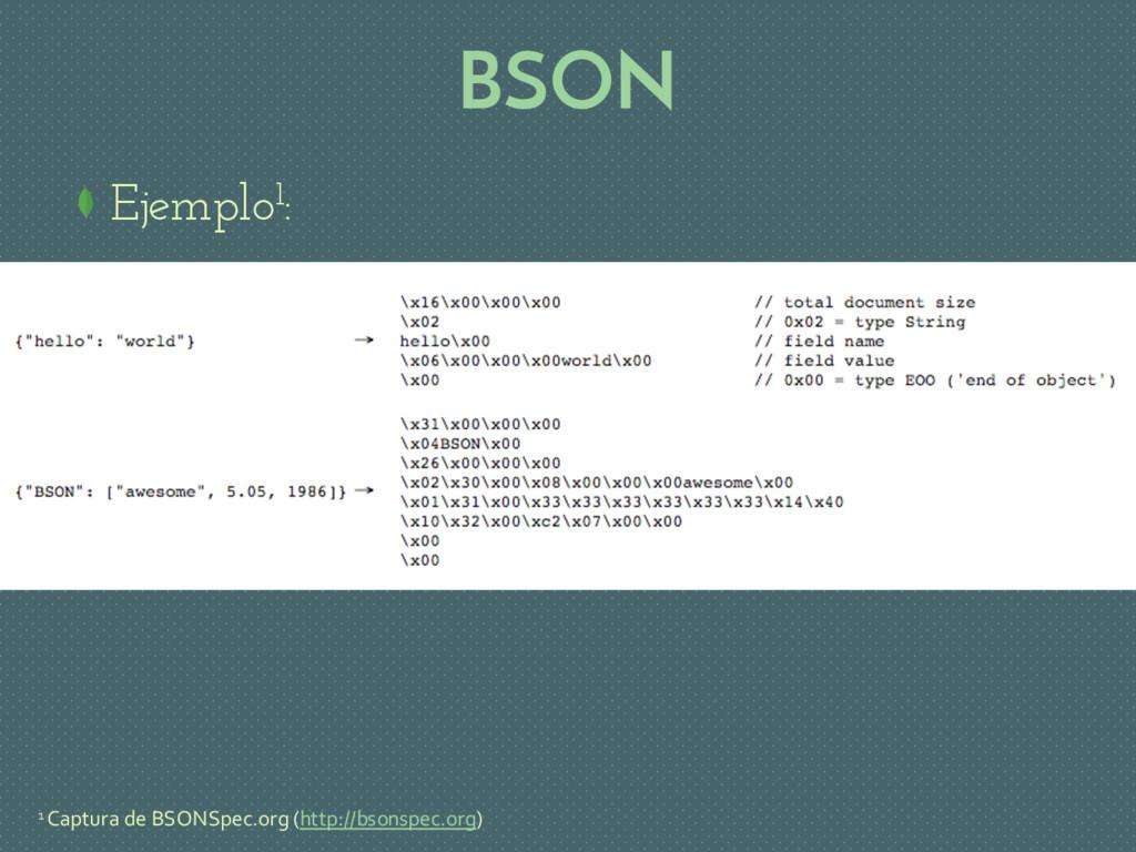 BSON Ejemplo1: 1 Captura de BSONSpec.org (http:...