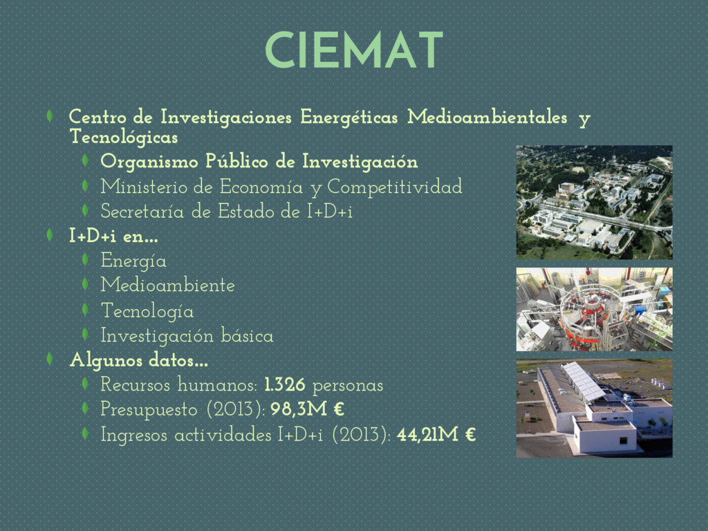 Centro de Investigaciones Energéticas Medioambi...