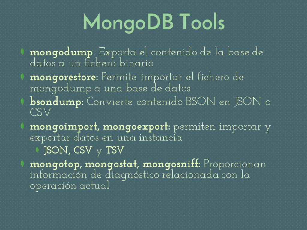 MongoDB Tools mongodump: Exporta el contenido d...