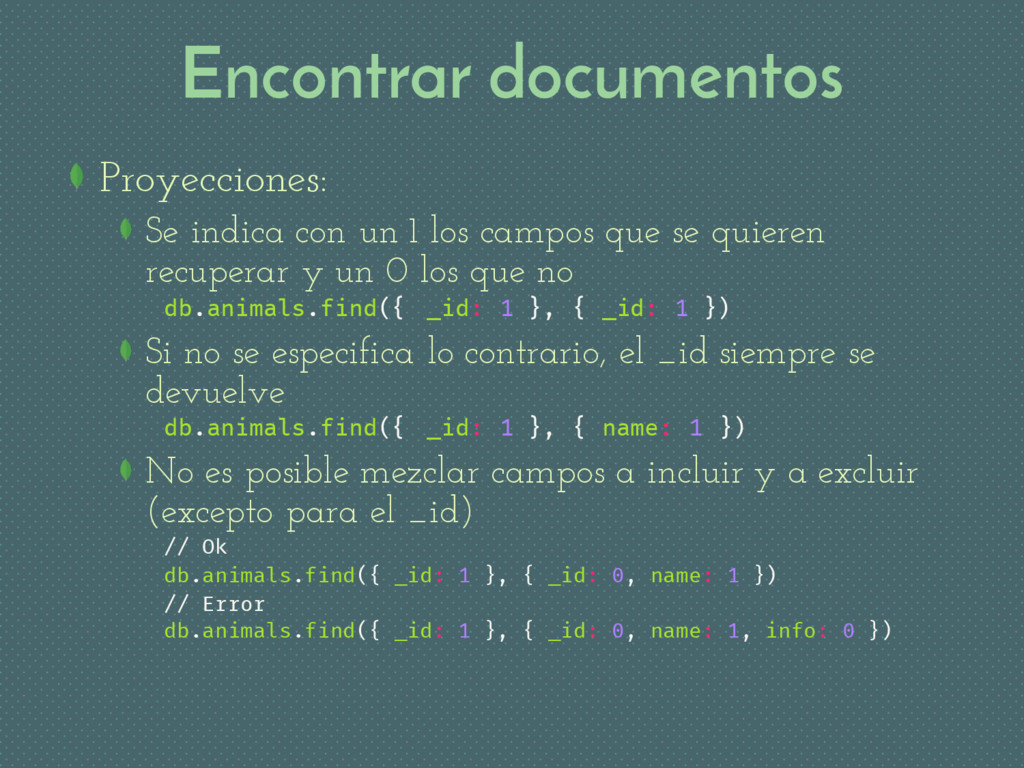 Encontrar documentos Proyecciones: Se indica co...