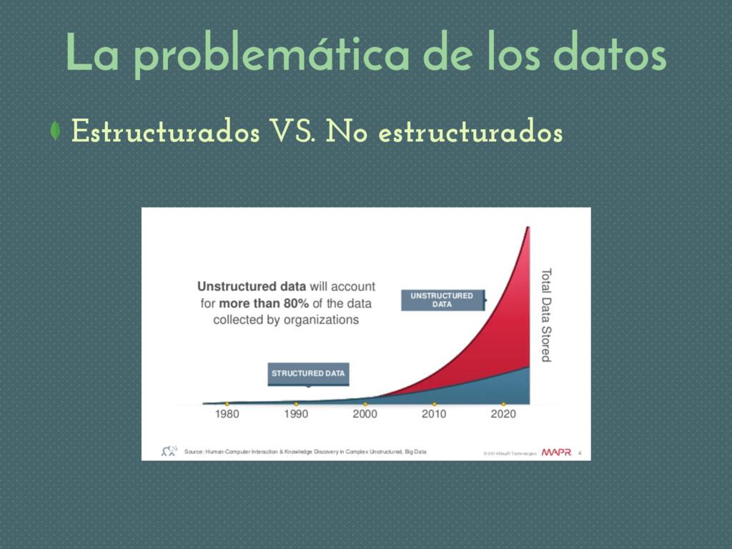 La problemática de los datos Estructurados VS. ...