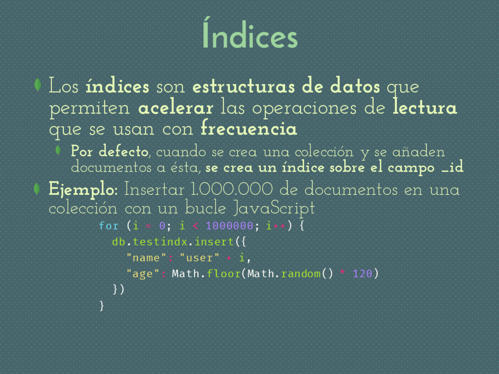 Índices Los índices son estructuras de datos qu...