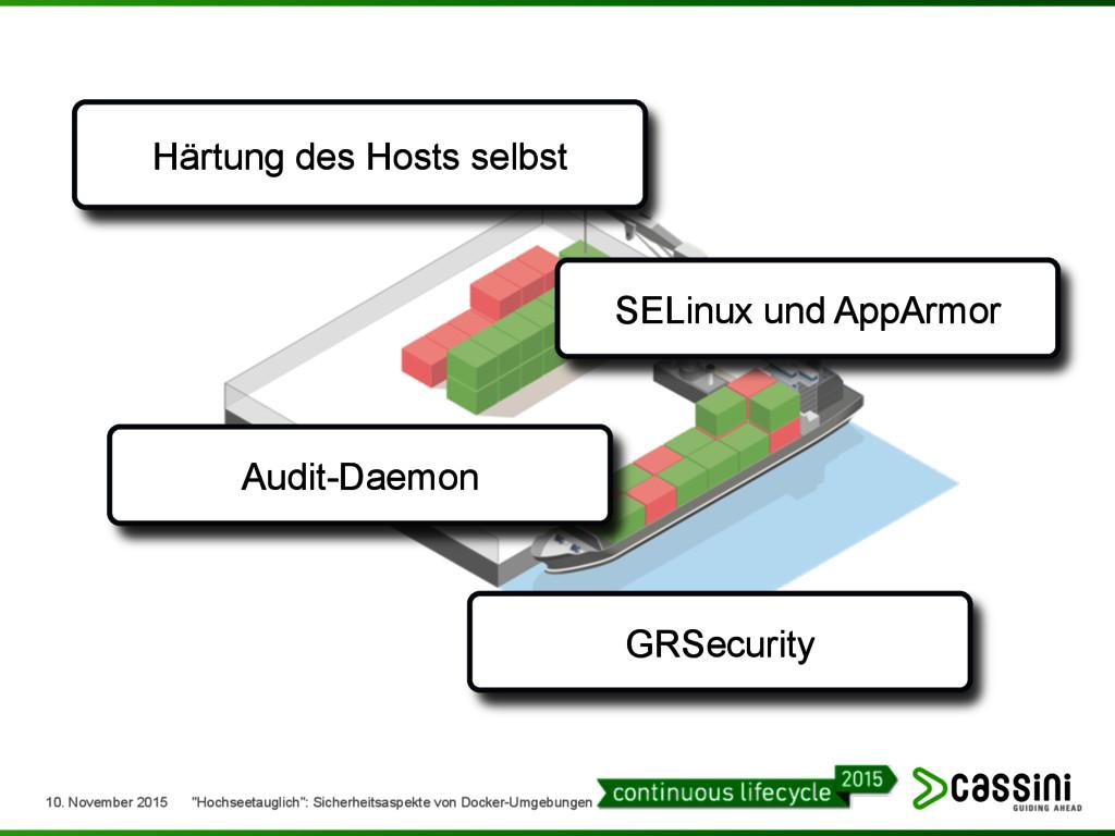 Härtung des Hosts selbst GRSecurity Audit-Daemo...