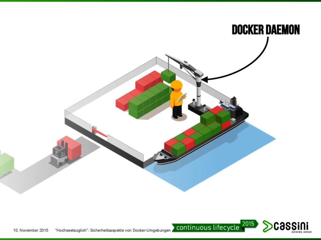 """Docker Daemon 10. November 2015 """"Hochseetauglic..."""
