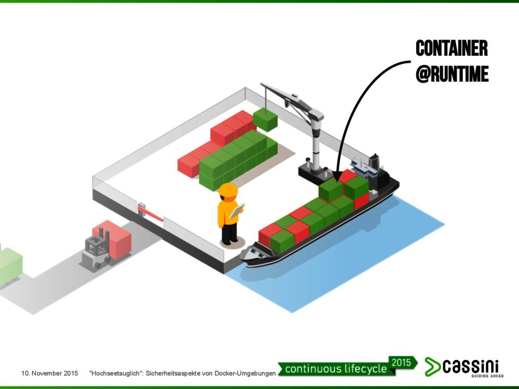 "Container @runtime 10. November 2015 ""Hochseeta..."