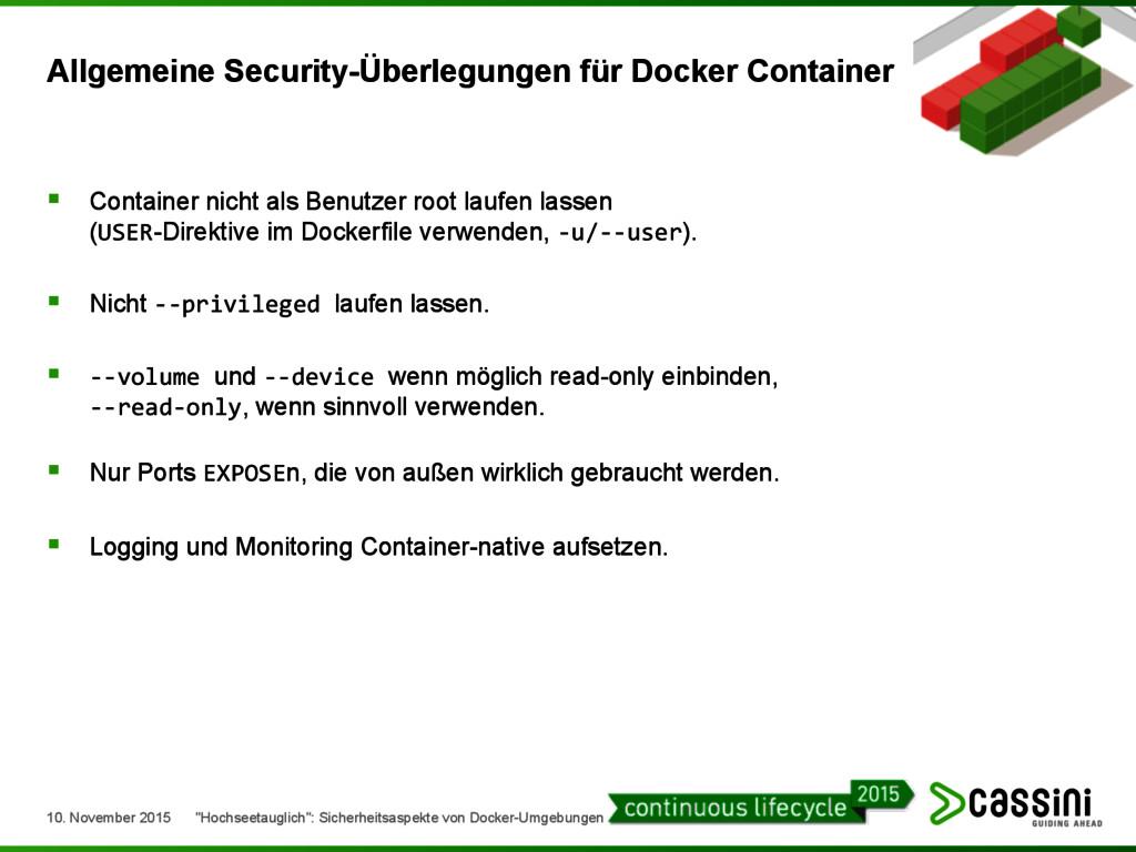 § Container nicht als Benutzer root laufen las...