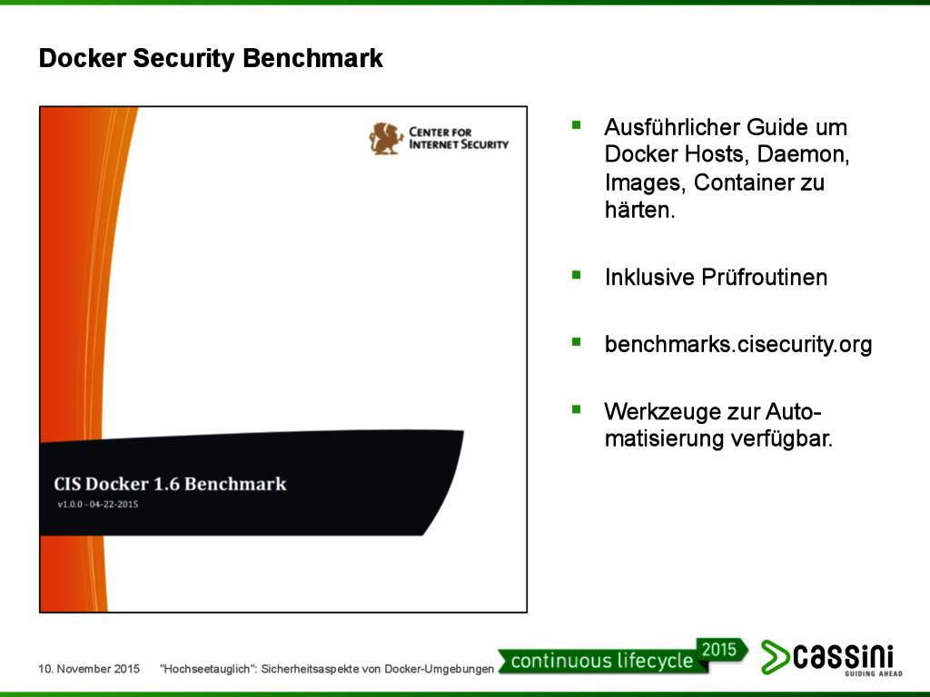 Docker Security Benchmark § Ausführlicher Guid...