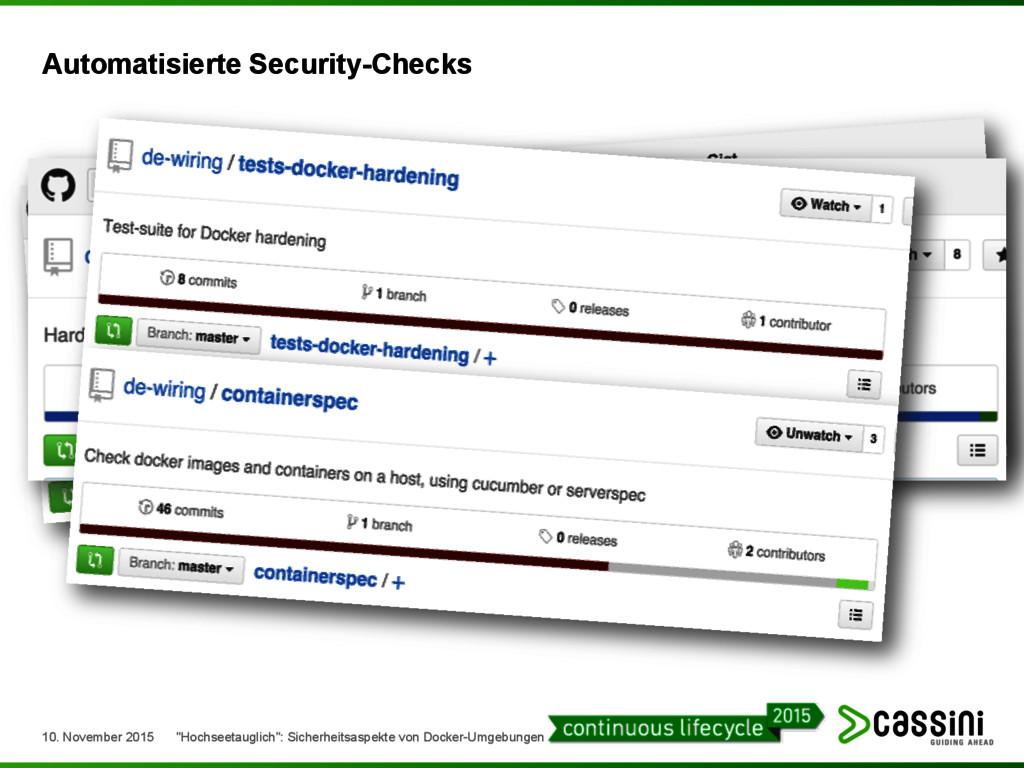 Automatisierte Security-Checks 10. November 201...